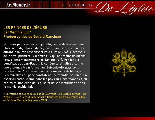virginie luc les princes de leglise www.virginieluc